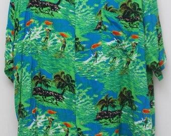 "90's Vintage ""PURITAN"" Short-Sleeve Hawaiian Shirt Sz: 2XL (Men's Exclusive)"