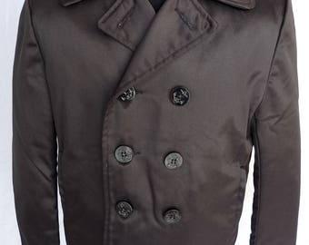 Rare! SCHOTT U.S 740N NYLON Naval Pea Coat Vintage Jacket PERFECTO 740 N Navy 42