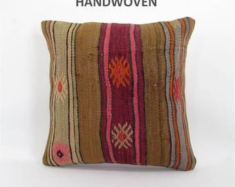 decorative pillow kilim pillow cover throw pillow kilim pillow case turkish cushion tapestry rustic pillow farmhouse decor home decor 000409