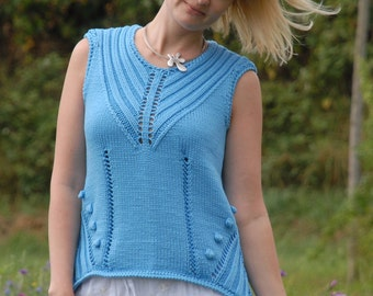 "Summer top/tunic ""CONY"" cashmere and viscose"
