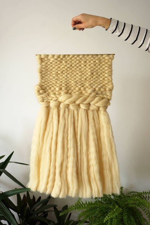 Big chunky wall hanging with golden details