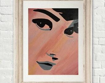 Audry Hepburn canvas
