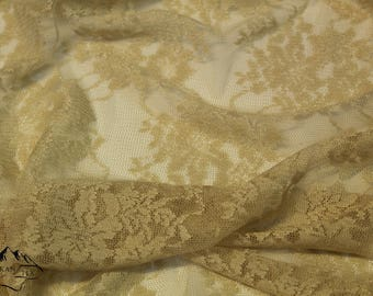 High-quality Golden-beige Lace