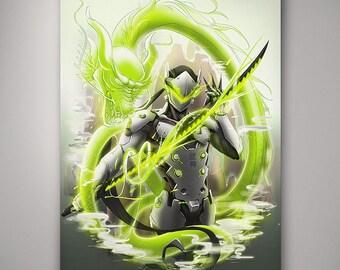 Overwatch - Genji // Art Print // Illustration