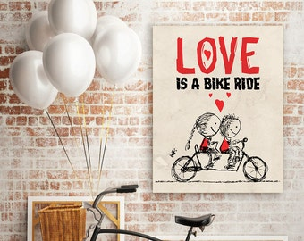 Love is bike ride poster