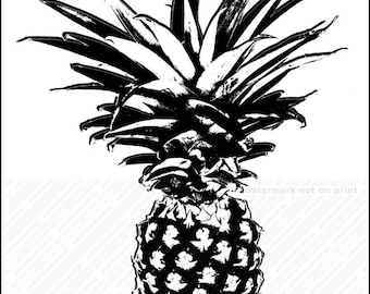 Pineapple wall art, Pineapple print, picture of pineapple