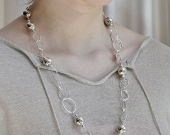 Sterling silver necklace-hand made-one of a kind