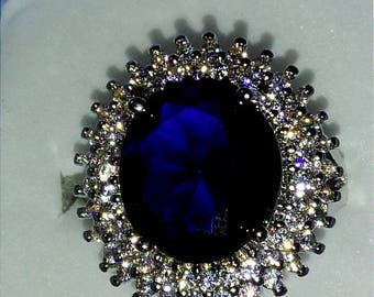 Blue Sapphire Silver 925 Ring