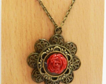 The Red Rose Necklace
