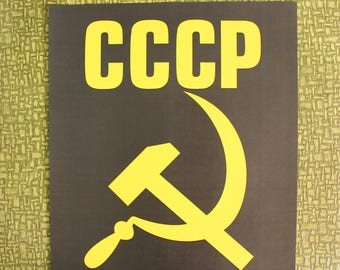 CCCP Russia, hammer and sickle heat press transfer iron on for t-shirts, sweatshirts