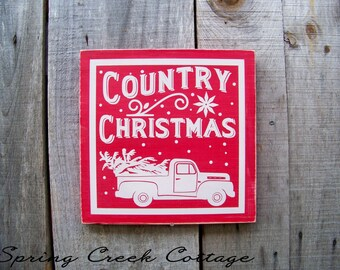 Farmhouse Christmas Decor, Country Christmas Decor, Holiday Decor, Handpainted, Wood Signs, Seasonal, Rustic, Winter, Christmas Decor, Gifts