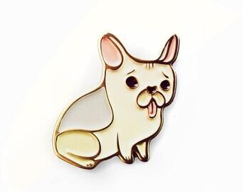 french bulldog pin enamel pin dog pin dog enamel pin frenchie pin - french bulldog gifts for dog lover, puppy enamel pin kawaii dog