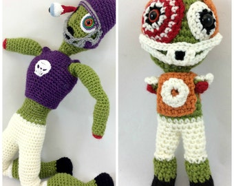 Zombie Football Player Dolls Crochet Pattern