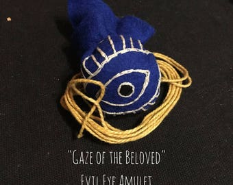 Evil Eye Amulet | Judaica | Embroidery