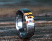 Titanium Ring, Dinosaur Bone Ring, Wedding Ring, Mens Ring, Womens Ring, Custom Made Ring, Mens Wedding Ring, Engraved Ring, Anniversary