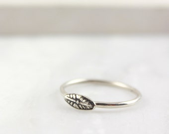 Florentine Delicate Stamped Stacking Sterling Silver Ring
