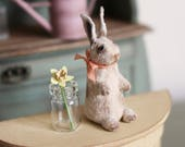 Dolls House Miniature Vintage Toy Rabbit