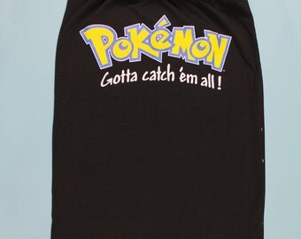 POKEMON Tube Top -Pokemon Go Shirt - Handmade Pokemon shirt - Upcycled Tshirt - Womens POKEMON Shirt, Gotta Catch em all