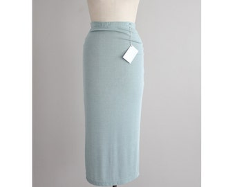minimalist skirt | slinky pale green skirt | 90s skirt