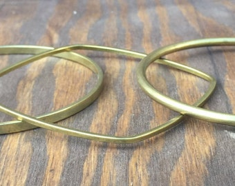 Brass Bangles. Brass Bracelets. Bangle Bracelets. Gold Bangles. Gold Bangles. Bridesmaid Gift. Stacking Bangles. Stackable Bracelets. Brass