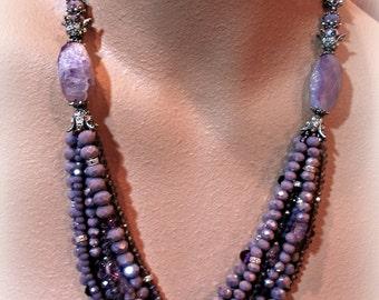 GRACE statement necklace