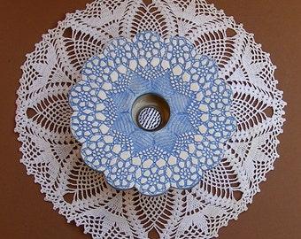 Handmade Pottery Vase, Petite Ikebana Vase, Ceramic Vase, blue