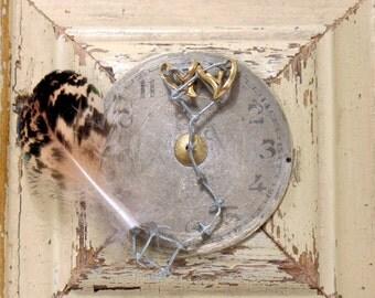 Heart Art - In the Mood for Love - Mixed Media Assemblage - Celebratory - Romantic - Love - Keepsake - Home Decor - Wall Art