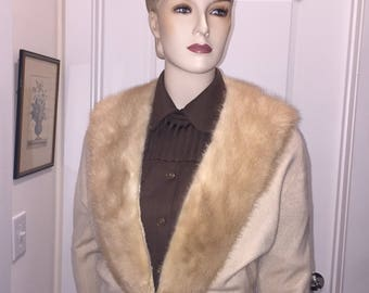 NOW ON SALE - Lovely Vintage Cashmere and Mink  Sweater