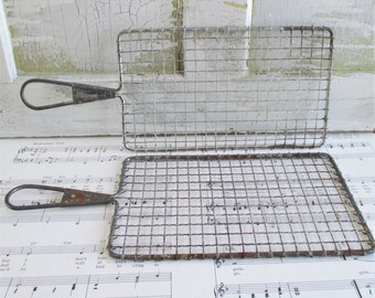 Pair of Vintage Metal Safety Graters
