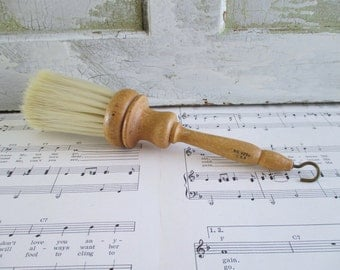 Vintage Wooden Handled Round Brush