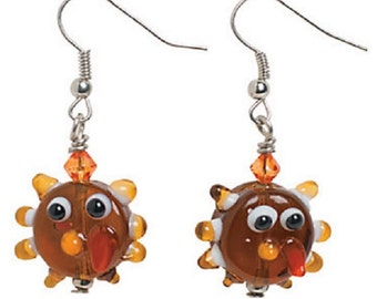 Turkey Lampwork Earrings