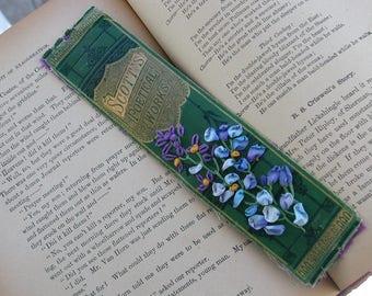 Bookmark-Embroidered Vintage Book Spine Bookmark-Scott's Poetical Works