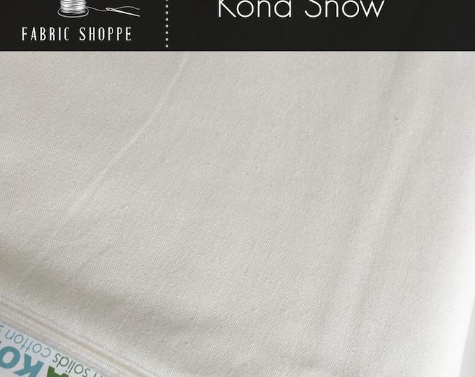 Kona solid fabric, quilt fabric, Kona SNOW 1339, Kona fabric, Solid fabric Yardage, Kaufman, Cotton fabric by the yard, Choose the cut