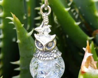 Sterling Silver Snowy Owl Bead Critter Pendant by Penny Michelle