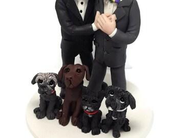 Custom cake topper, Same Sex Couple wedding cake topper, Groom and Groom cake topper, Mr and Mr cake topper, personalized cake topper