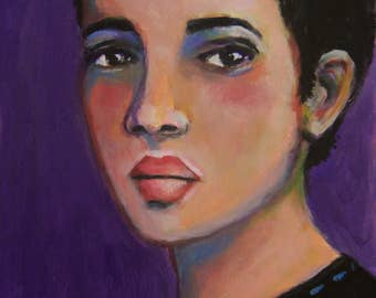 Neema - Original 5 x 7 inch Portrait Painting