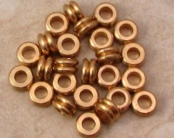 Greek Yoyo Spacer Bead, Brass, 6 MM 25-Pieces M427