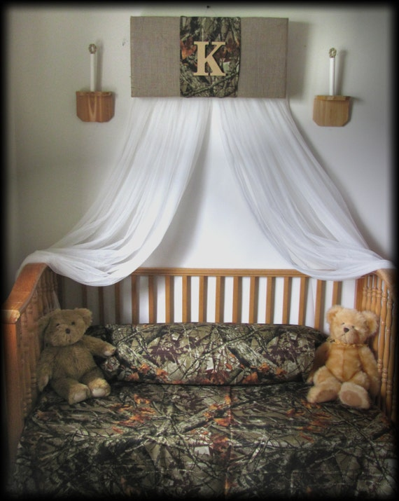 Crib Canopy Nursery Bedroom Realtree Camouflage Mossy Oak