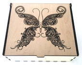 Essential Oil Storage Box, Medium Butterfly, Aromatherapy Storage Box, Essential Oil Case, Wood Butterfly, Oil Organizer, Oil Display