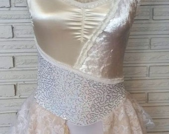 Tattered Lace Aerial Costume, Dance Costume, Leotard, Made to Order