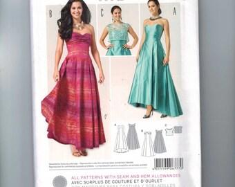Misses Sewing Pattern Burda 6777 Formal Bridesmaid Hi Low Strapless Prom Formal Gown Dress Size 8 10 12 14 16 18 UNCUT