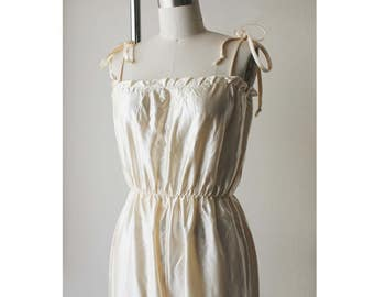 1970s Sheer Satin Camisole Jumpsuit