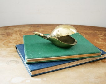 vintage 60s Brass Mid Century Whale Ashtray // Office Decor // Catch All Dish