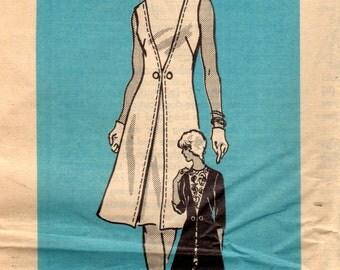 1970s Anne Adams UNCUT Vintage Sewing Pattern Misses A-line Dress, One Piece Dress Size 12 Bust 34