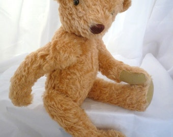 "Mohair Teddy Bear 18"" Golden Yellow"