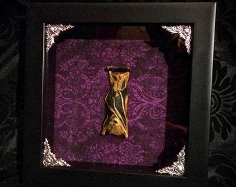 SALE - 7 Inch Real Bat Shadowbox - Taxidermy Bat - Gothic Gift - Bat Gift - Oddities - Gothic Decoration - Bat Decoration