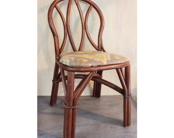 vintage rattan chairs - bentwood dining chairs set of 4 - bamboo boho furniture - Local Pickup