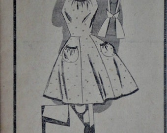 Vintage 40's Mail Order 2699 Sewing Pattern, One Yard Full Apron Pattern, One Size, Uncut FF