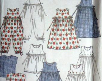 New Look 6493 For Kids Sewing Pattern, Girls' Dress, Romper and Top, Size/Age 4-5-6-7-8-9, Uncut FF, Easy to Sew, Spring Summer