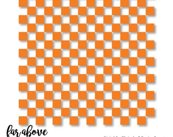 Checkerboard Pattern for use in your own designs - SVG, DXF, png, jpg digital cut file for Silhouette or Cricut Check